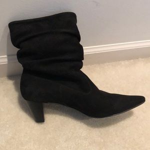 Matisse black suede slouch boots
